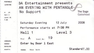 ticket for the concert