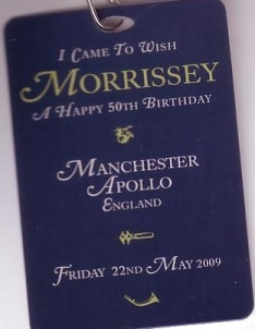 birthday laminate pass given out at the concert