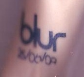 laura's blur tattoo