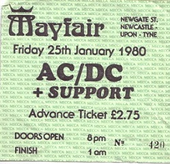 AC/DC at Newcastle Mayfair 1977 to 1980 (6/6)