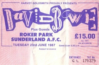 David Bowie Roker Park Glass Spider Tour 23 June 1987 (1/3)