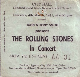 The Rolling Stones Newcastle City Hall 4th March 1971