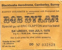 Bob Dylan Blackbushe Aerodrome 1978 (1/2)