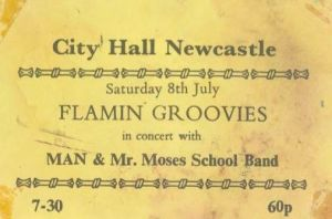 Flaming Groovies Ticket June 1972