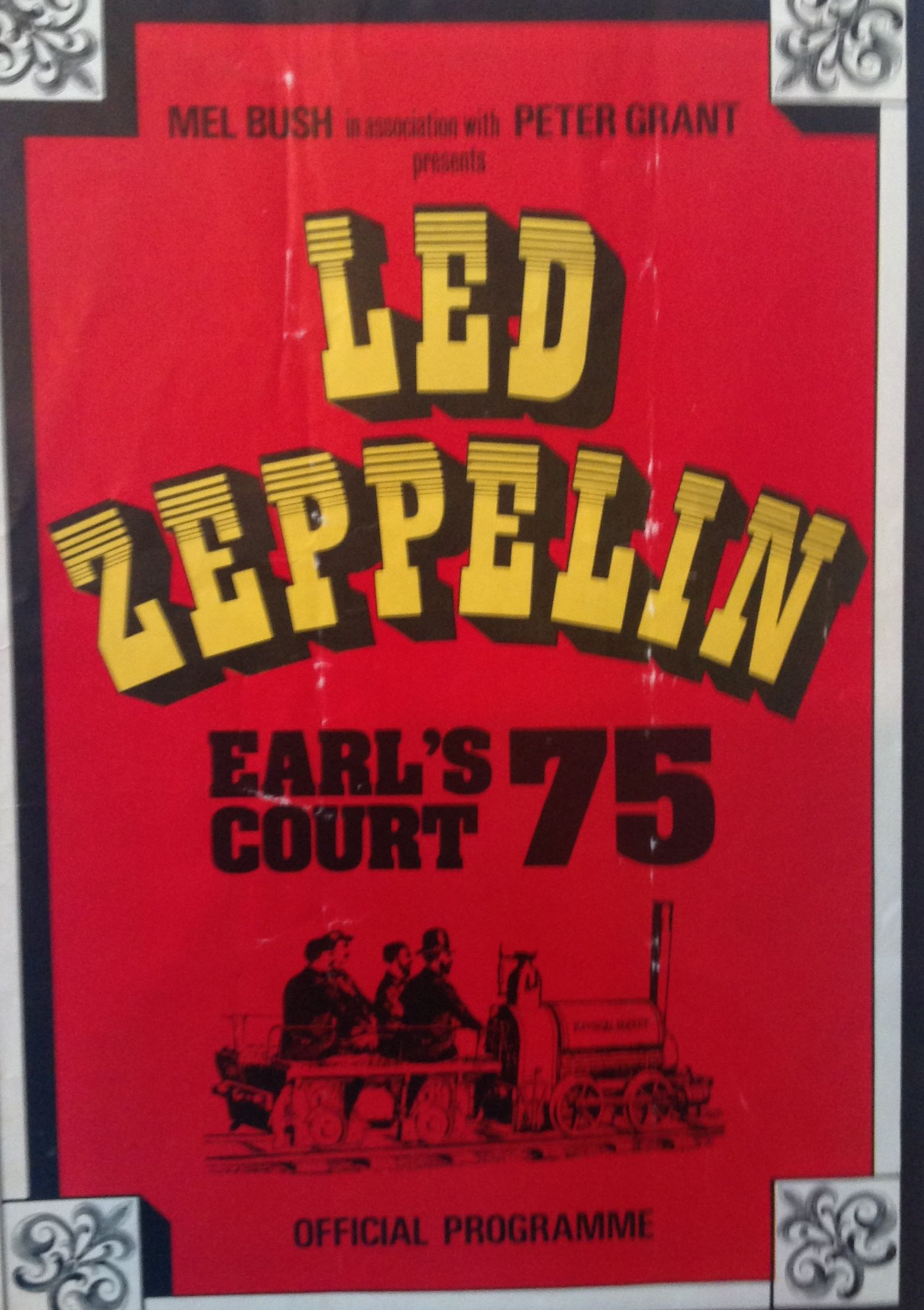 physical rocket Earl/'s court 1975 concert poster Led Zeppelin
