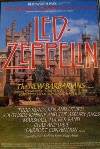 Led Zeppelin Knebworth Park 11th August 1979 Vintagerock S Weblog