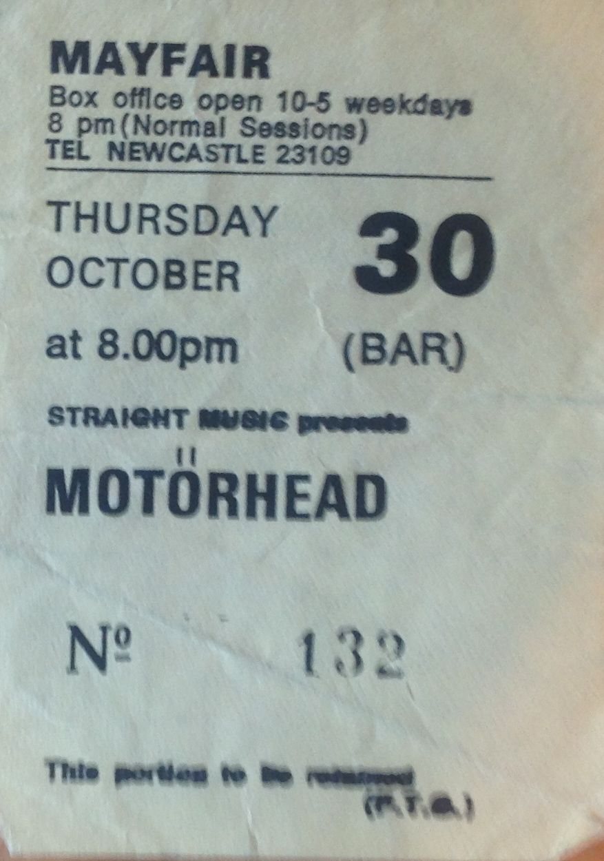 Motorhead Live Newcastle Mayfair October 30th 1980 The Ace