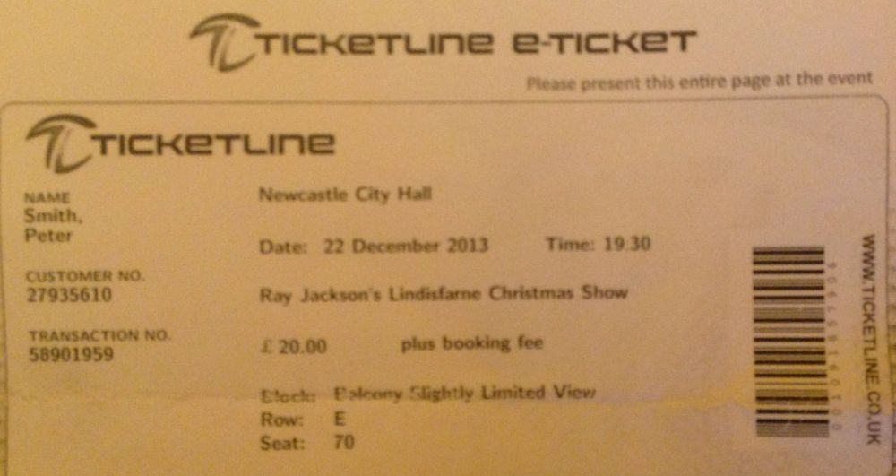 Ray Jackson's Lindisfarne Christmas Show Newcastle City Hall 22nd December 2013 (2/2)