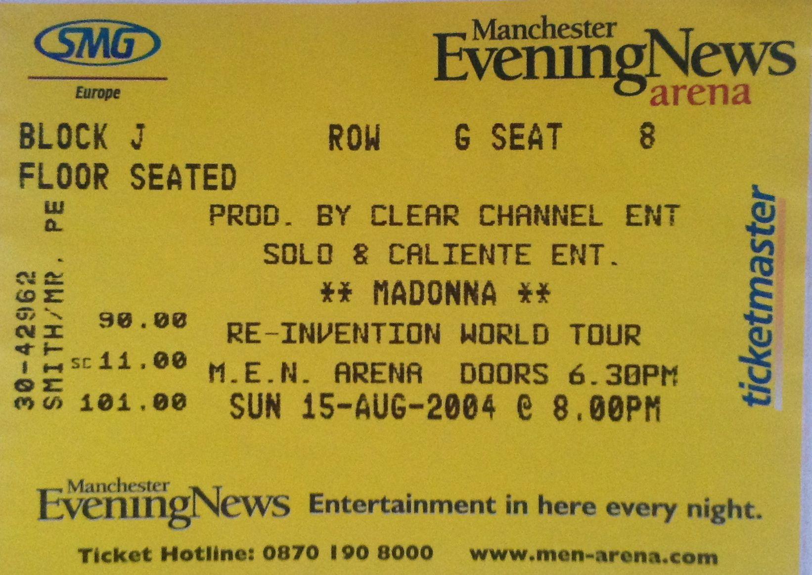 Madonna Tour Tickets Manchester