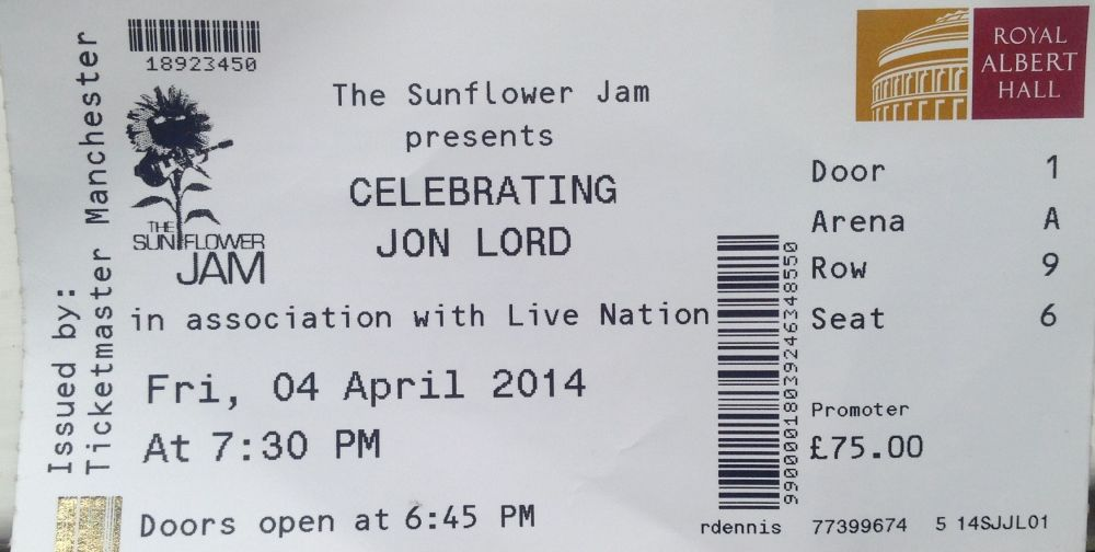 Celebrating Jon Lord The Royal Albert Hall 4th April 2014 (1/6)