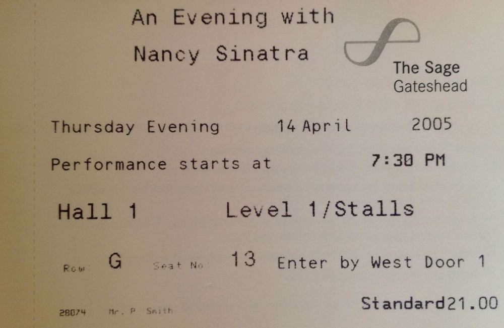 An Evening with Nancy Sinatra The Sage Gateshead 14th April 2005 (2/4)