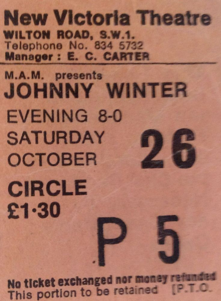 Johnny Winter New Victoria Theatre London 26th October 1974 (1/3)