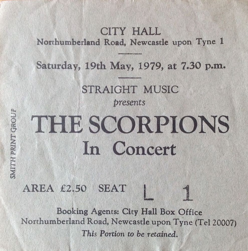 Scorpions Newcastle City Hall 19th May 1979
