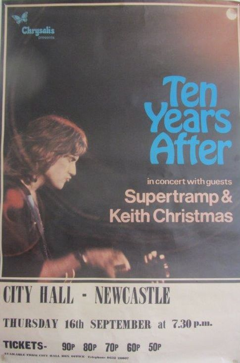 Ten Years After Newcastle City Hall 16th September 1971 (3/4)