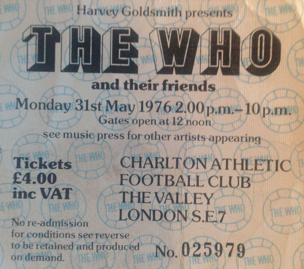 The Who Charlton Athletic Football Club 31st May 1976 (1/3)