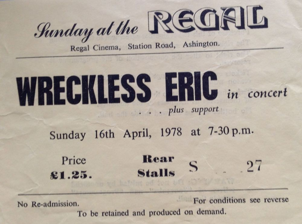 Wreckless Eric Ashington Regal 16th April 1978 (1/3)