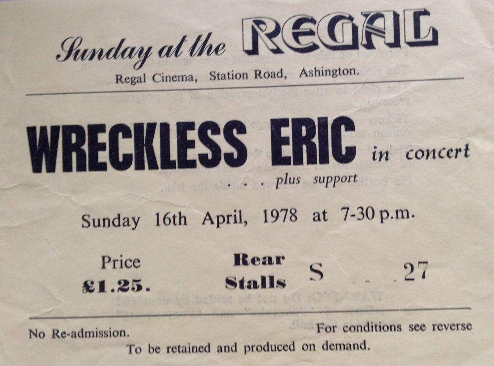 Wreckless Eric Ashington Regal 16th April 1978 (1/3)