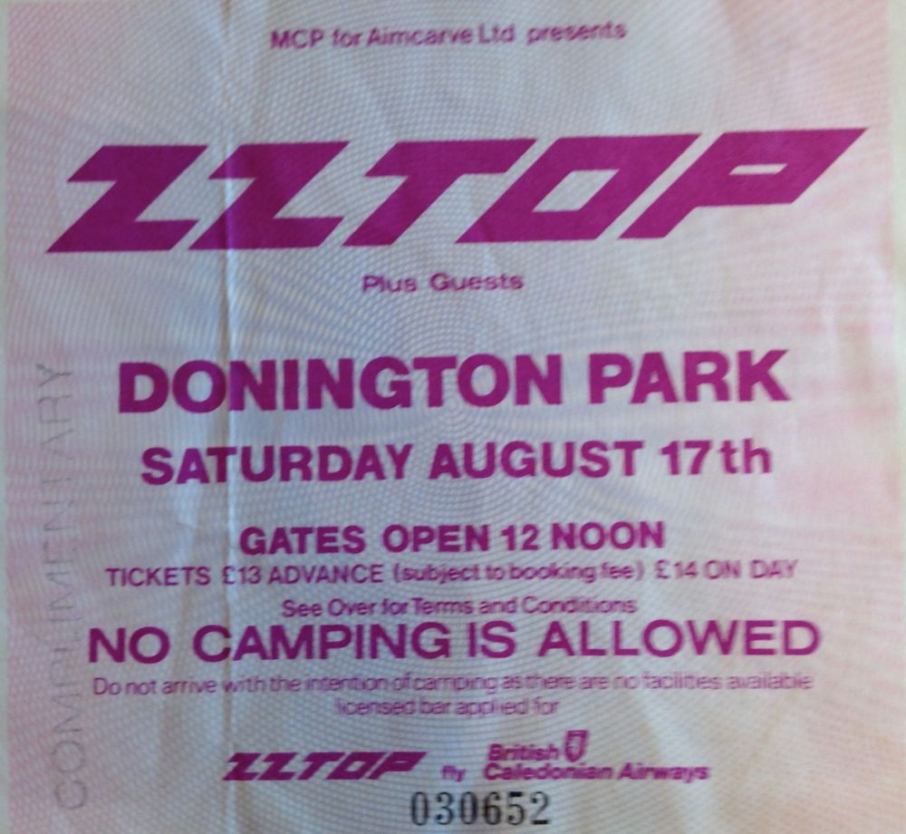 Z Z Top Rocking the Castle, Donington 17th August 1985 (1/2)