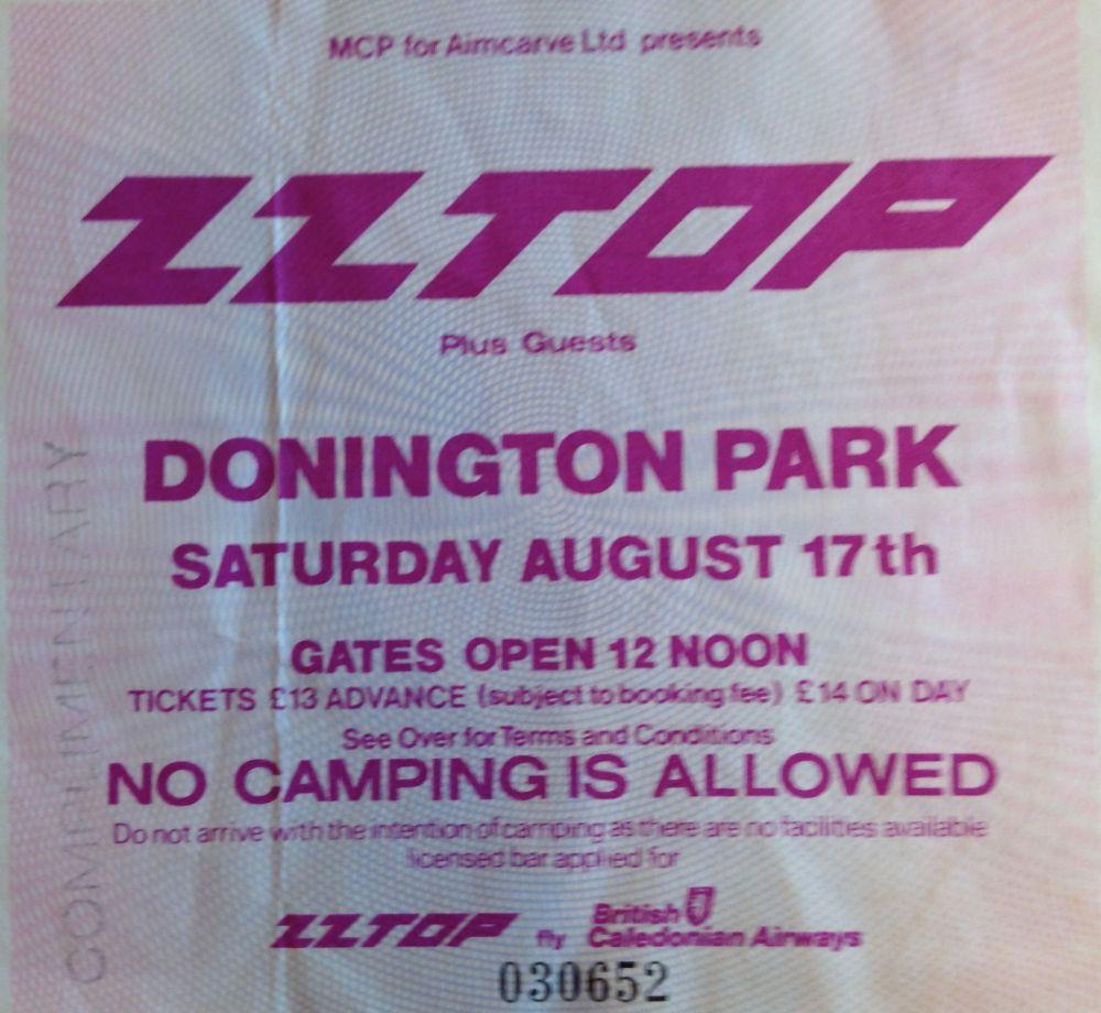Z Z Top Rocking the Castle, Donington 17th August 1985 (1/2)
