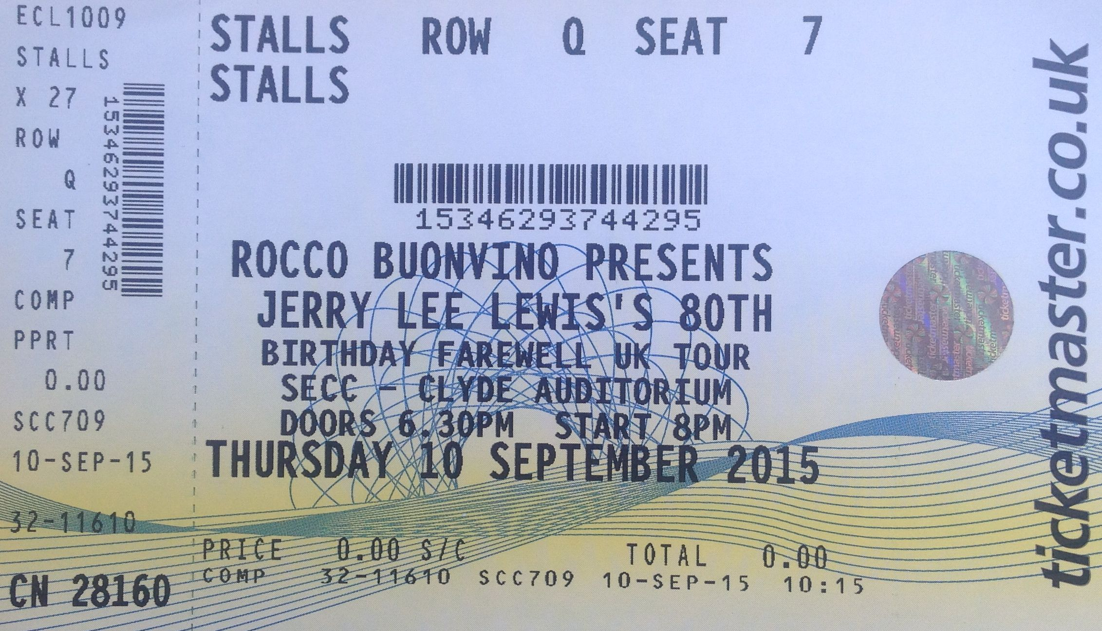 Jerry lee lewis 80th birthday concert clyde auditorium glasgow 10th jerryleetix freerunsca Images