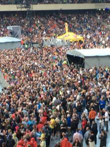 stones crowd